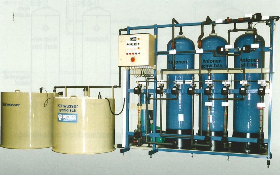 Ion Exchange System Stationary For Water Treatment With